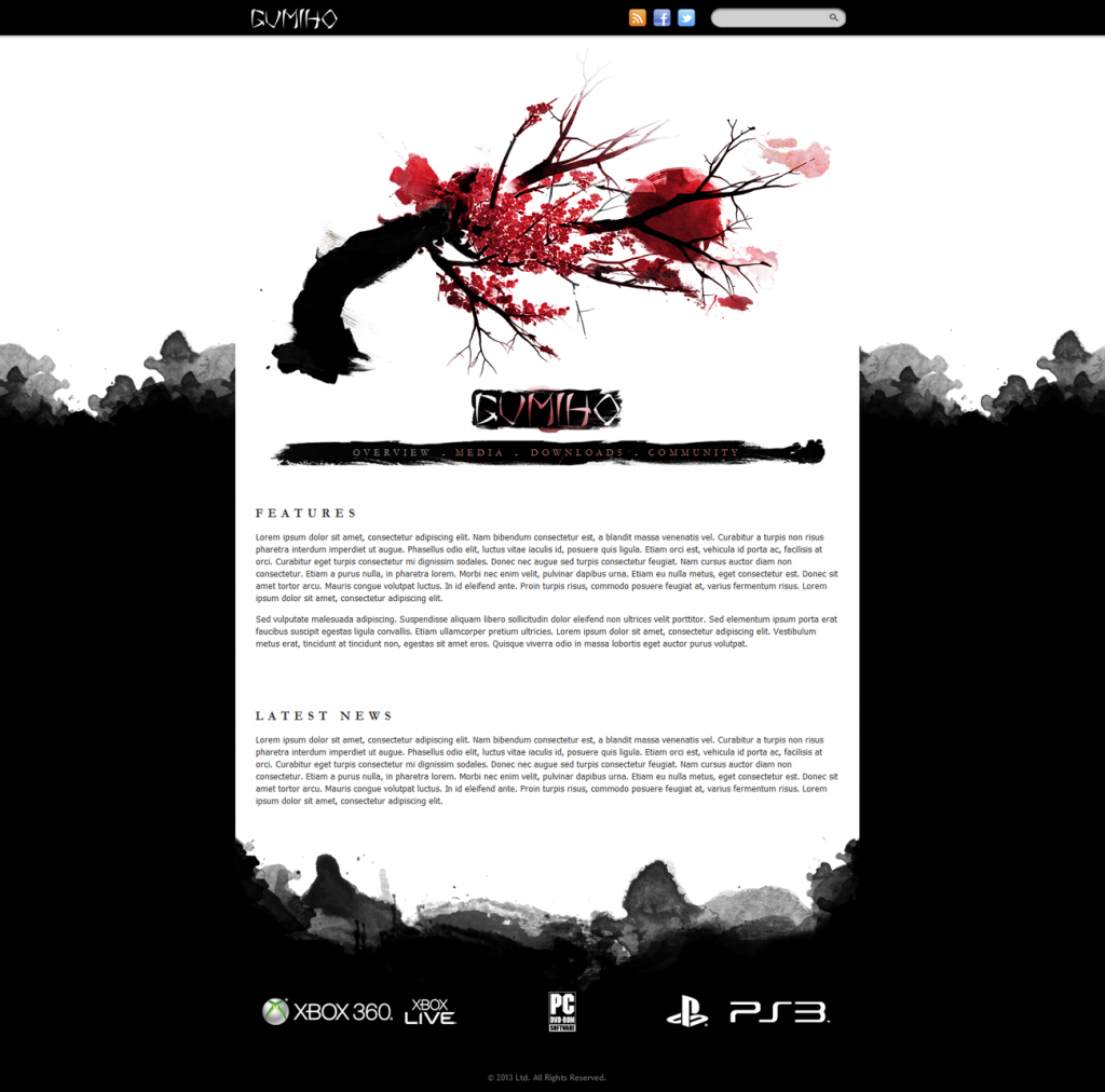 Gumigo webdesign screenshot