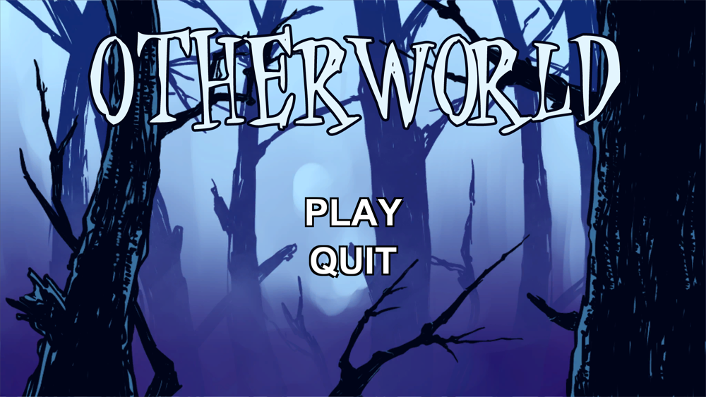 Title screen for the game